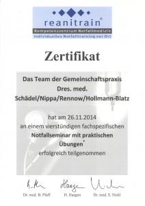 Notfallseminar 2014